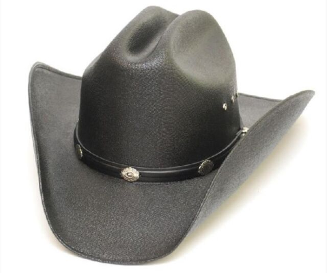 Western Express Classic Cattleman Straw Cowboy Hat Kids Size with Silver  Conchos ec5b5cd75491