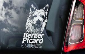 Berger-Picard-On-Board-Auto-Finestrino-Adesivo-Piccardia-Shepherd-Cane-V01