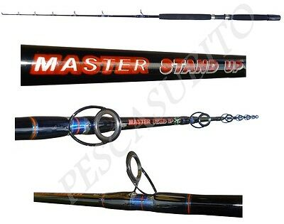 Canna Master Stand Up 20/50lb Anelli Mare Tonno Big Game Drifting Traina Tp Impermeabile, Resistente Agli Urti E Antimagnetico