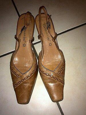 Tamaris Echt Ledersandalen Sandalen Schuhe Gr. 39 braun