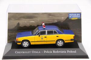 1-43-Altaya-Chevrolet-Opala-Policia-Rodoviaria-Federal-Diecast-Models-Toys-Car