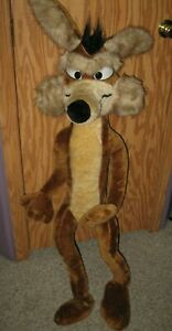 Wile-E-Coyote-Plush-Tall-Warner-Bros-1971-by-Mighty-Star-49-5-034-Tall