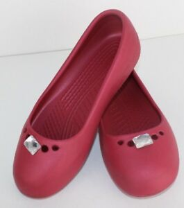 103710d0f626 Crocs prima women s ballerina flat slip on shoes pink size 5