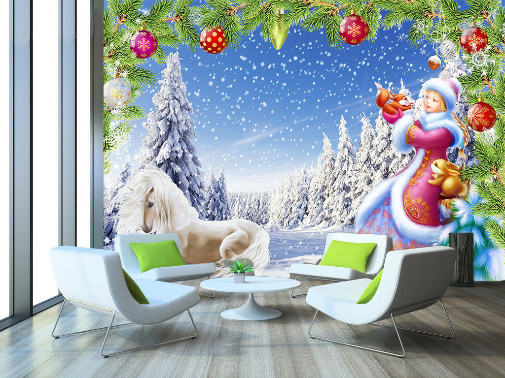 3D Snowing Sky 725 Wallpaper Murals Paper Wall Print Wallpaper Mural UK