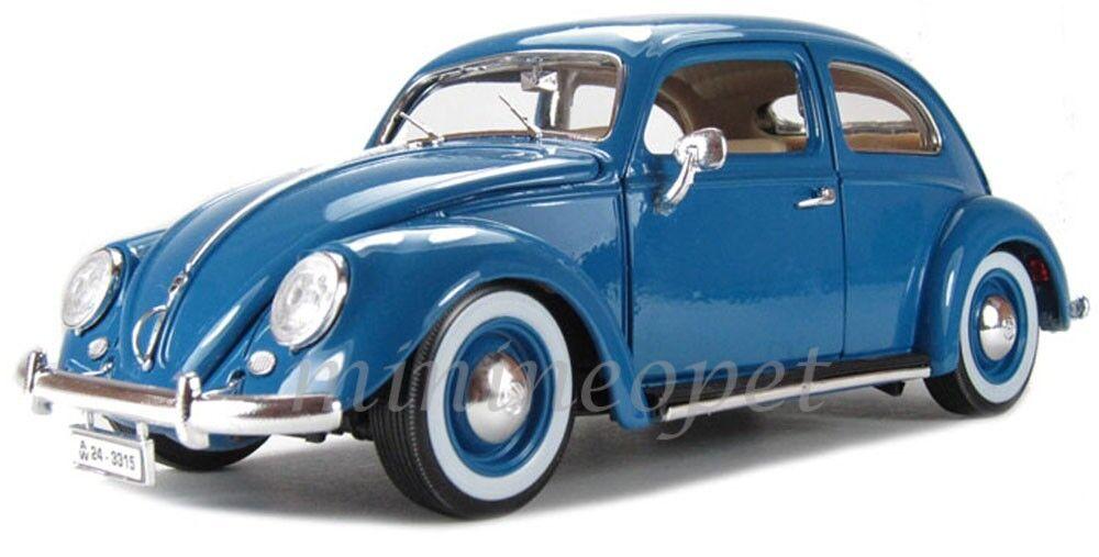 BBURAGO 18 -12029 1955 55 VW VOLKSWAGEN KAFER BEETLE 1  18 blå