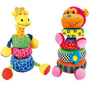 Steck-Giraffe-Affe-Stoff-Kinder-Zimmer-NEU-Motorik-Schulung