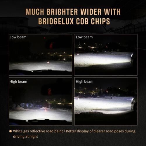 US 9005 H11 LED Headlight+9006 Fog Light Bulb for 2016 2017 Ram 1500 2500 3500