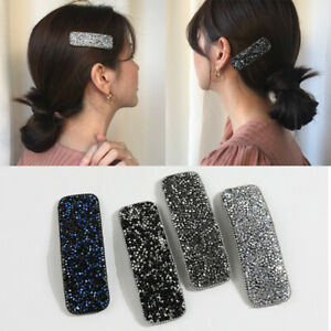 Mode-Femmes-Cristal-Strass-Pince-A-Cheveux-Barrette-Baton-En-Epingle-A-Cheveux