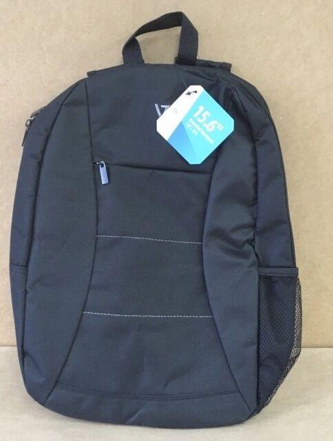 """V7 15"""" Essential Laptop Backpack Black Polyester Padded Zipper CBK1-BLK-9N *NEW*"""