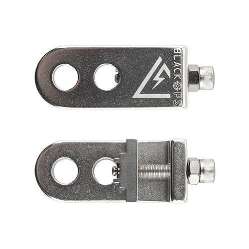 Black Ops CT 2.0 BMX Bike Chain Tensioner Adjustable Alloy For 3//8 Silver Pair
