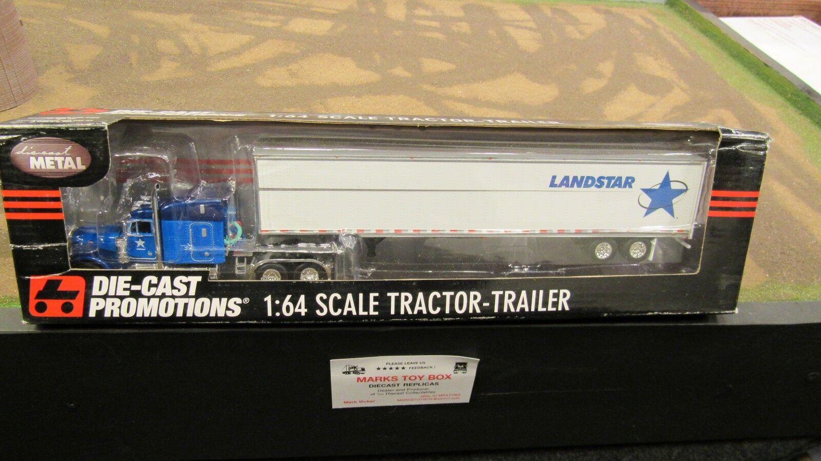DCPLandStar sistema Inc. Pete 379 semi camión 53' Dry Van Trailer 1 64 FC