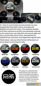Wheel-Cap-Decal-sticker-to-fit-OZ-Racing-55mm-dia-x4-Printed-in-8-colours-x4