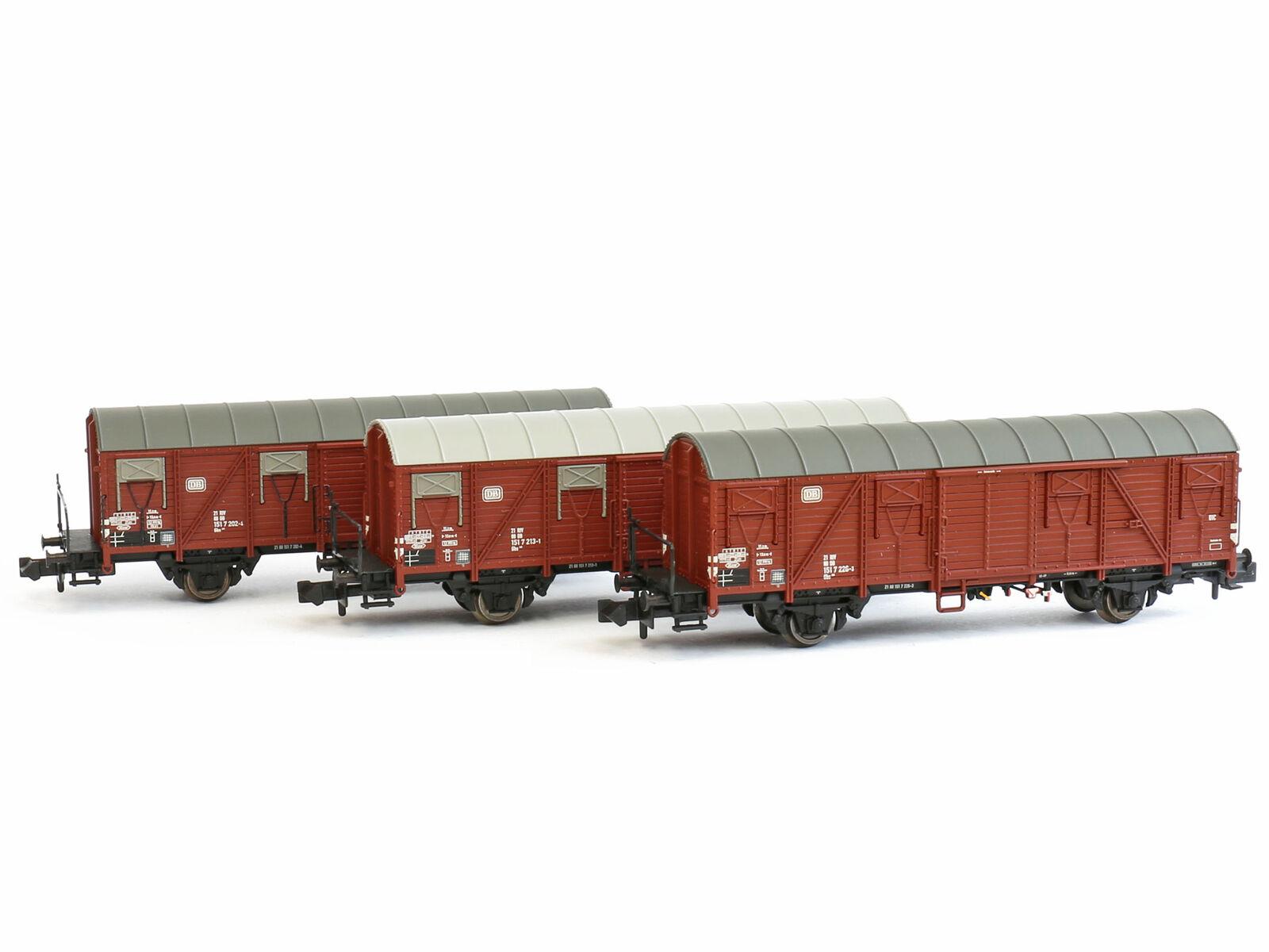 Liliput Liliput Liliput L260147 - Güterwagen Set Bauart Gbs 245 DB Ep.IV 3x - Spur N - NEU 0b3bc2