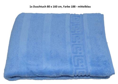 Cawö Noblesse 1001 Handtücher Duschtuch Gästetuch Seiftuch mittelblau 188