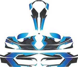 Tribal bleu custom full Kart Sticker Kit-Karting-GO Kart-jakedesigns