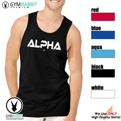 ALPHA Gym Rabbit Muscle T Shirt Tank 5col Sleeveless Fitness Bodybuilding C32