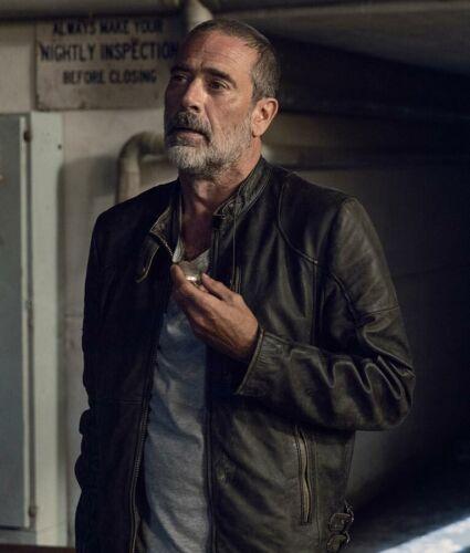 The Walking Dead negan Jeffrey Doyen MORGAN saison 9 Noir Veste en cuir