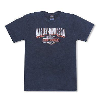 Harley-Davidson T-Shirt Biker Short Sleeve Men Woman Tel Aviv Israel Blue