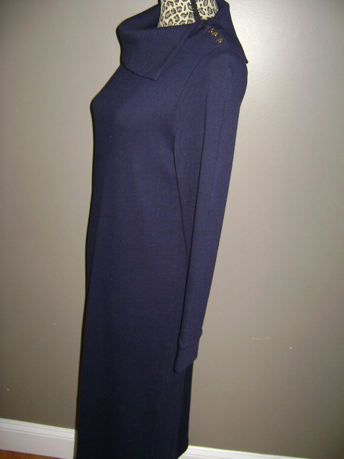 RALPH LAUREN WOMEN LONG SLEEVE DRESS size S BLUE … - image 5