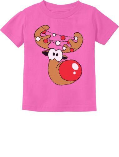 Boy Christmas Toddler//Infant Kids T-Shirt Xmas Gift Cute Reindeer Lights Girl