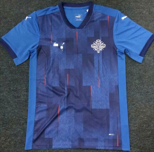 NEW 2020-2021 Iceland Home Soccer Jersey Short Sleeve Man Tshirt S-XXL