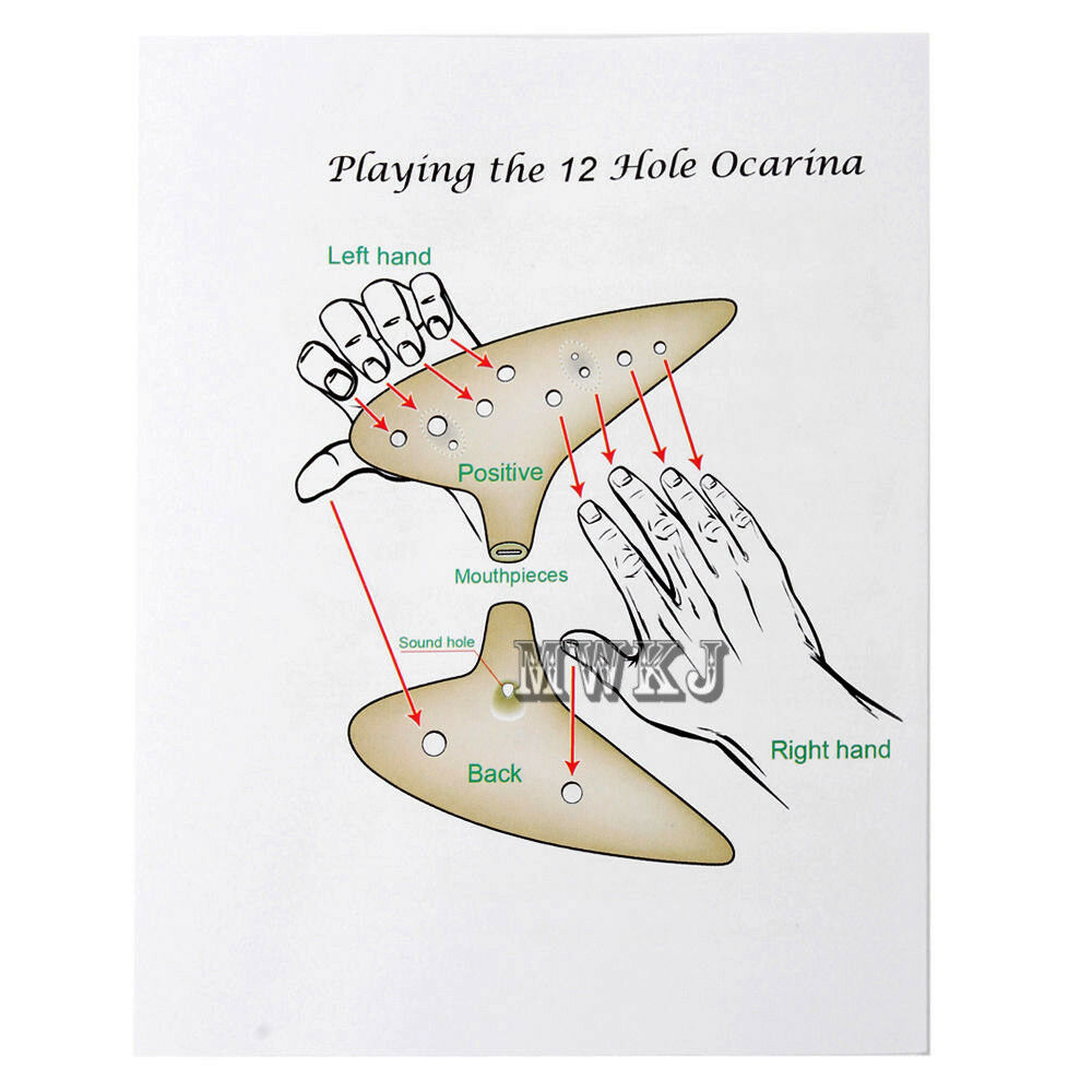 Buy Legend Of Zelda 12 Hole Ocarina Of Time Ceramic Alto C Flute