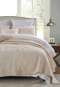 Vintage-Premium-Cotton-Quilt-Bedspread-Coverlet-Set-3-piece-Queen-King