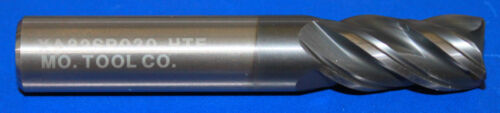 """1//2/"""" Carbide Variable Helix Variable Flute End Mill 1/"""" LOC 3/"""" OAL 4 FL AlTiN"""