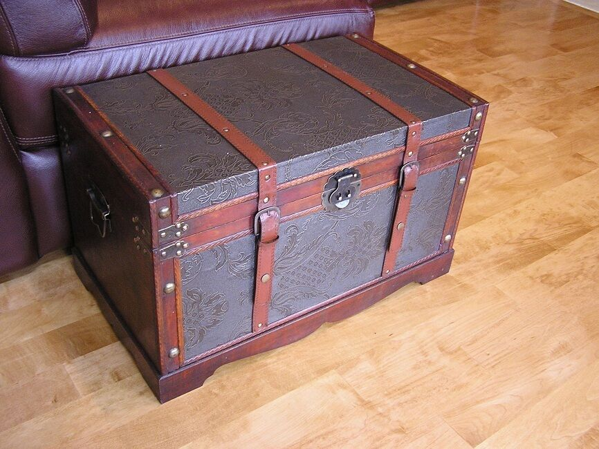 Wood Storage Trunk Wooden Hope Chest