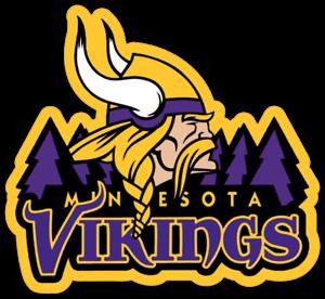 Minnesota Vikings Logo with Norseman Type NFL Football Die-cut MAGNET