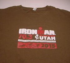"Triathlete 2015 IRONMAN TRIATHLON St. George, Utah ""Volunteer"" (LARGE) T-shirt"