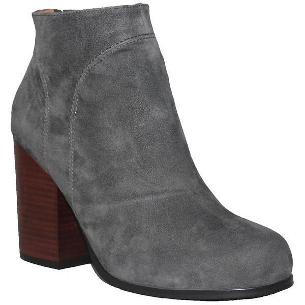 Kixters Chelsea Grey Suede Side Zip Block Block Zip Heel Short Boot 9b1273