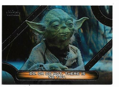 2017 Topps Star Wars Galactic Files Reborn Famous Quotes MQ-2