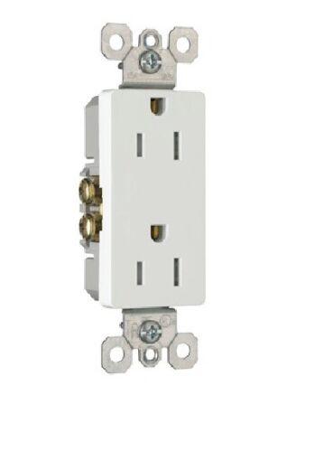 White 15 Amp P /& S 885TRW Decorator Tamper Resistant Receptacle 10 Pack
