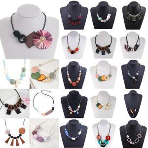 Charm-Womens-Acrylic-Geometic-Pendant-Chain-Choker-Chunky-Statement-Bib-Necklace