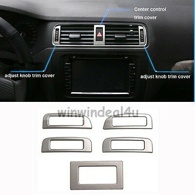5PCS AIR CONDITION OUTLET VENT ADJUST KNOB SWITCH TRIM COVER FOR VW JETTA MK6
