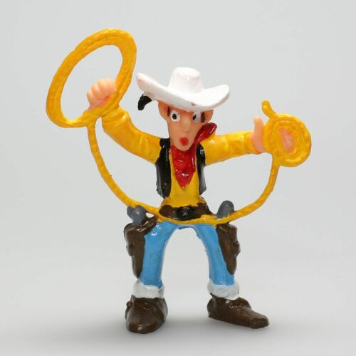 Figurine plastique Lucky Luke Lucky Luke lasso en l/'air Comansi