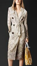 Burberry Prorsum Beige Dip Dye Dégradé Lace Trench Coat It 46 UK 14-16