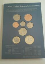 2017 Annual United Kingdom Coin set Brilliant Uncirculated New One Pound Coin BU