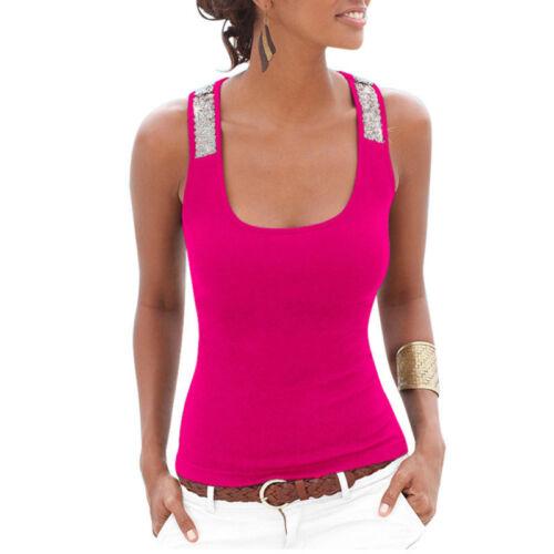 Neu Mode Frauen Casual Slim Tank Tops Sommer Beach Ärmellos Weste Bluse Shirt