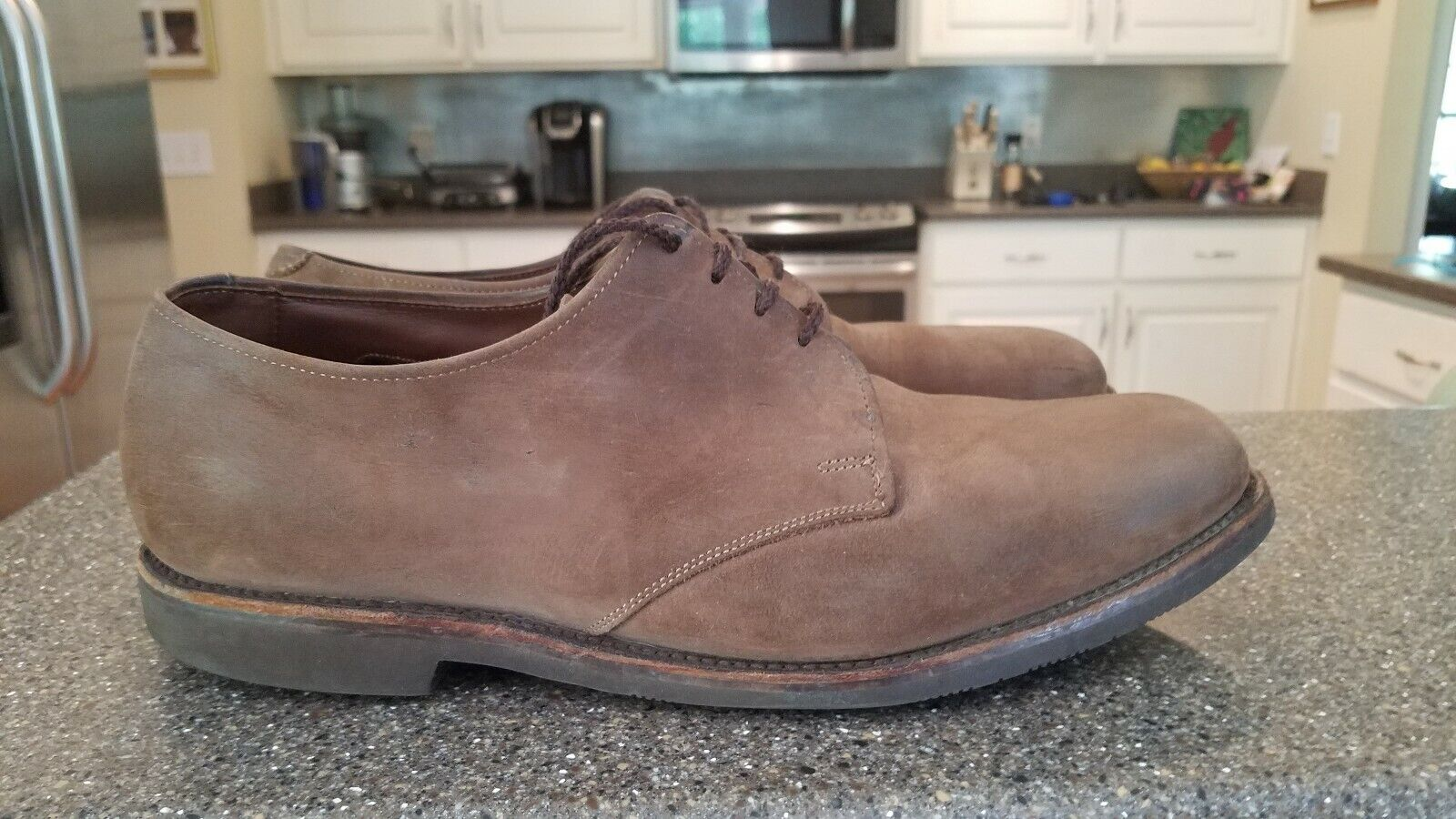 Allen Edmonds Yale Men's Brown Suede Casual shoes Size 9.5 E