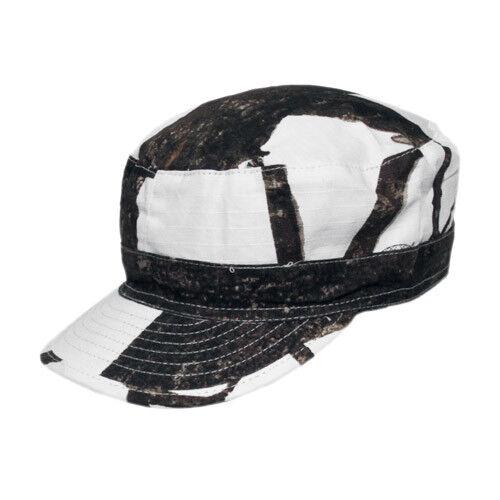 HUNTING FIELD CAP BUSHCRAFT PATROL HAT RIPSTOP WINTER REAL TREE HUNTER SNOW CAMO