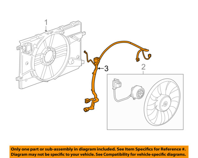 buick gm oem 12-17 verano 2 4l-l4 engine cooling fan-wiring