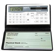 Datexx DB-403 3-Memory Bank Account Balance Checkbook Solar Power Calculator New