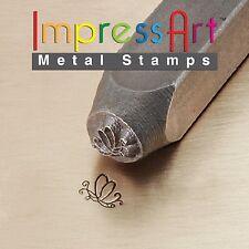 ImpressArt Metal Jewelry Design Stamp Butterfly Swirl 2 6mm