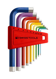 PB Swiss Tools PB 211.H-10 Hex Key Set Metric Long 1.5-10mm 9pc