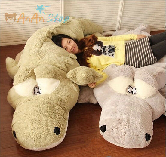 GIANT 78'' PLUSH CROCODILE CUTE STUFFED ANIMAL SOFT TOY HUGE CUSHION PILLOW