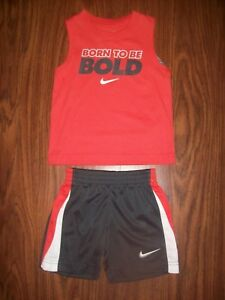2b16c986948a Toddler Boys NIKE 2-Pc Shirt Shorts Outfit - Sz 2T New NWT MSRP  36 ...