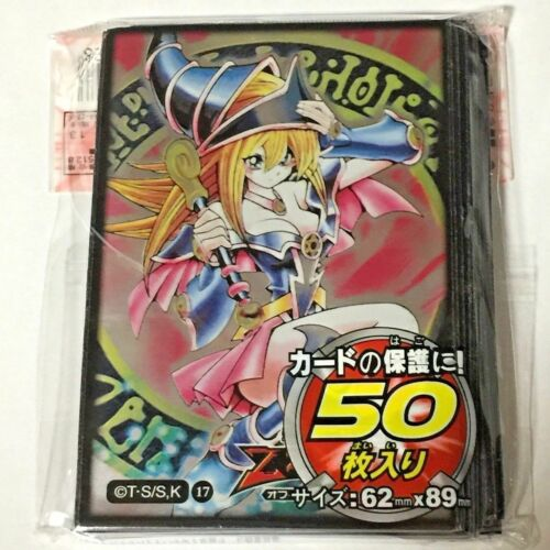 50 Yugioh Small Size Card Sleeves Deck Protector Dark Magician Girl