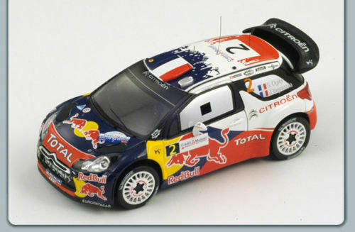 Citroën DS3 WRC No.2 French Rally 2011 2011 2011 Ogier S3324 Spark 1 43 NEW  b92341